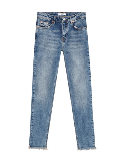 Skinny fit jeans with zip