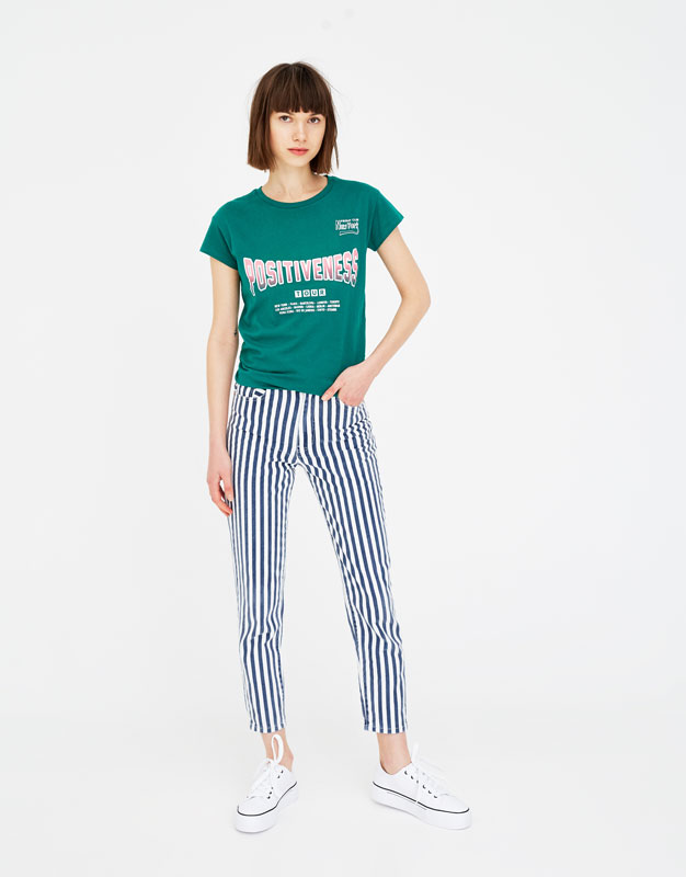 jeans-mom-fit-a-righe by pull-&-bear
