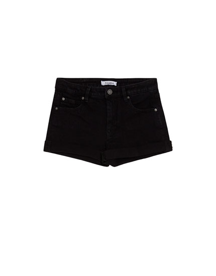 Short taille moyenne à revers