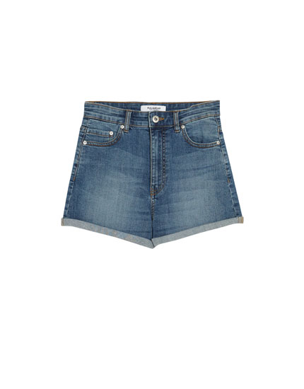 High waist shorts i denim