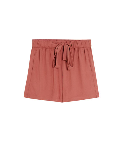 Jogging Bermuda shorts with tie