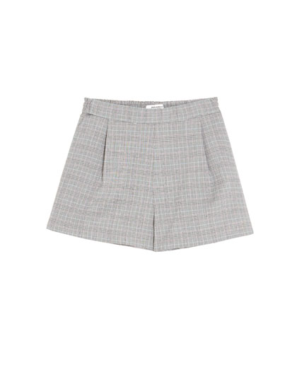 Checked tailored Bermuda shorts