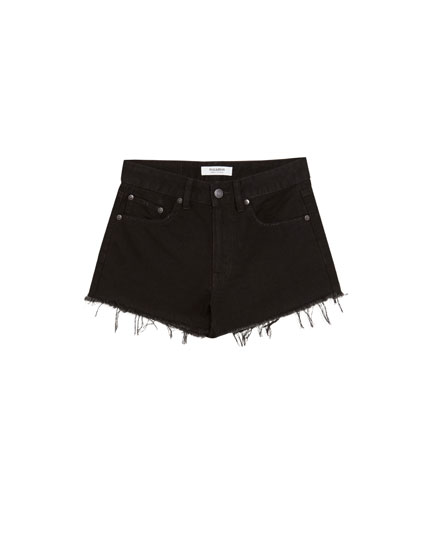 Shorts denim tiro medio
