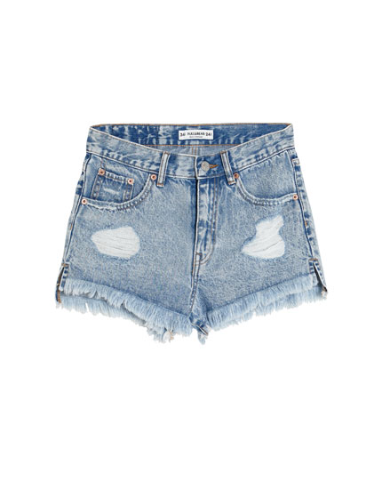 Shorts de mezclilla mom fit