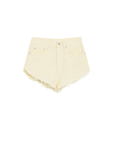 Shorts denim laterales escotados