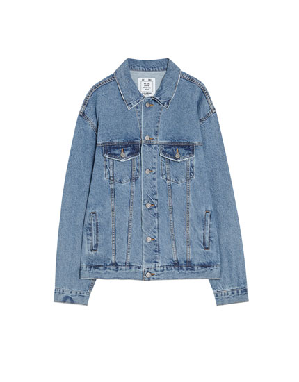 Blouson denim ample