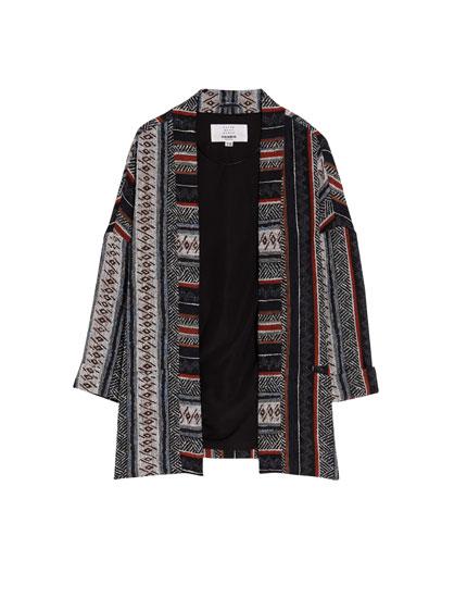 Traditional print kimono