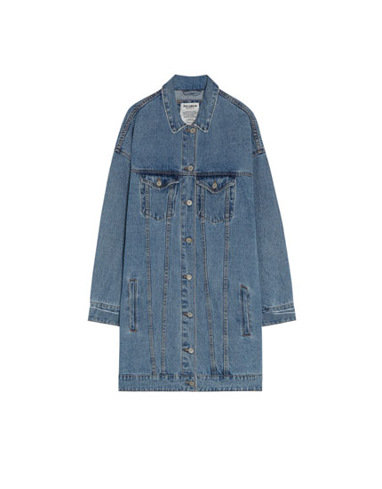 Cazadora denim oversized rotos