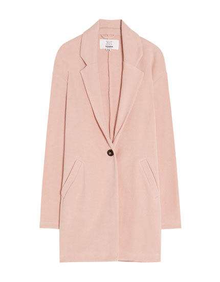 Lapel collar coat