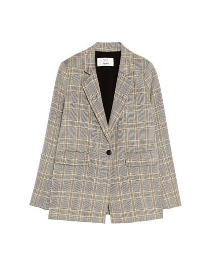 Veste tailleur carreaux anglais