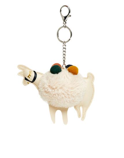 Schlüsselanhänger mit Lama