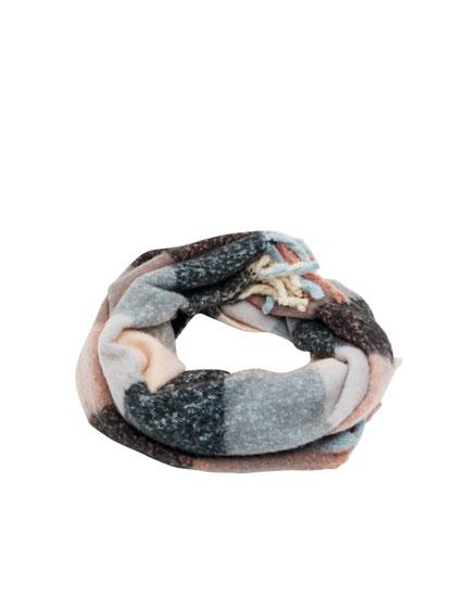 Karierter Oversize-Schal