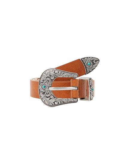 Cinturón detalles turquesa