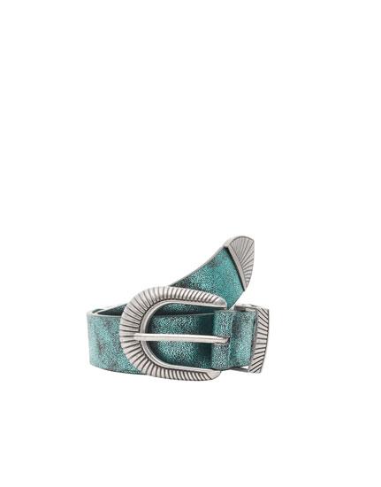 Cowboy-Gürtel in Metallic