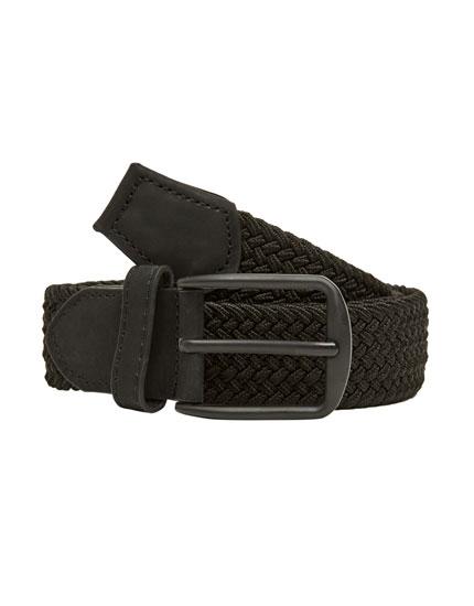 Plaited elastic belt