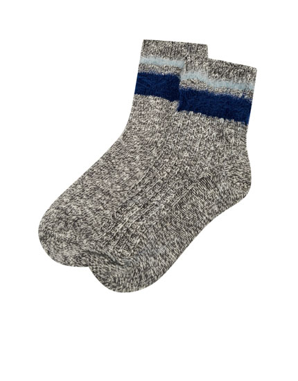 Striped flecked socks