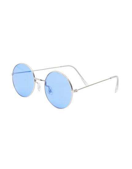 Óculos de sol lentes azuis