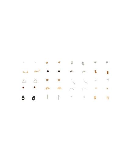 20er-Pack Mini-Ohrringe