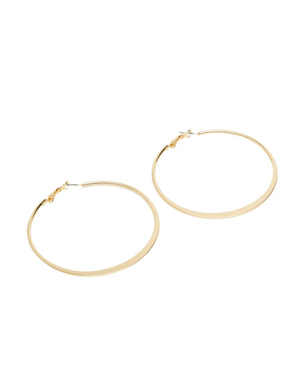 Pack of 2 round and oval hoop earrings