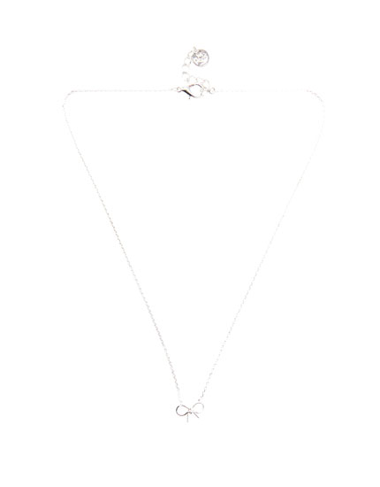 Necklace with bow charm