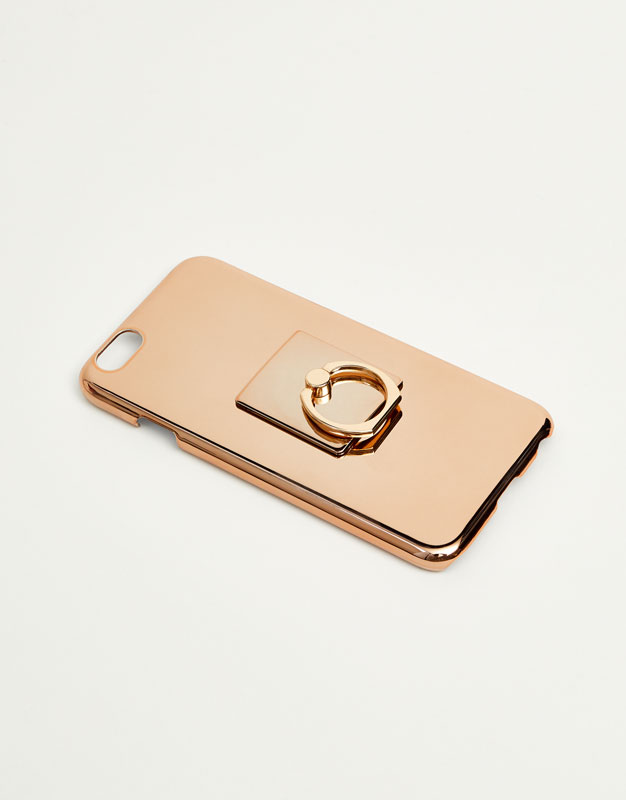 Mobile phone case with ring
