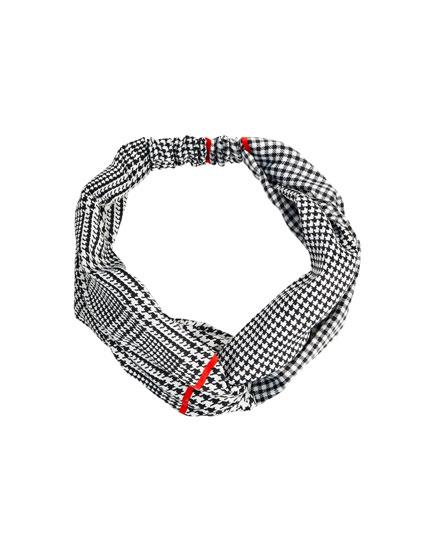 Turban-Haarband mit Karomuster
