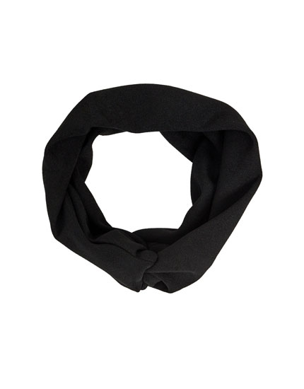Schwarzes breites Stirnband