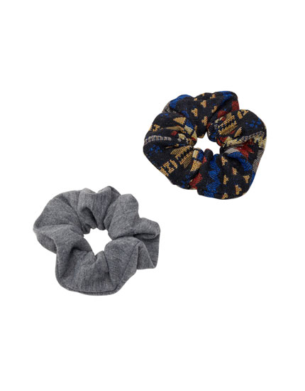 Tribal print scrunchies