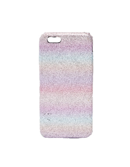 Multicoloured shiny phone case