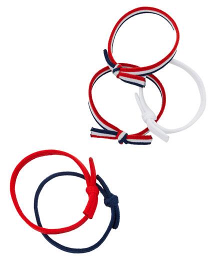Set de elastice în dungi pentru păr