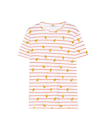 T-Shirt mit Papayas
