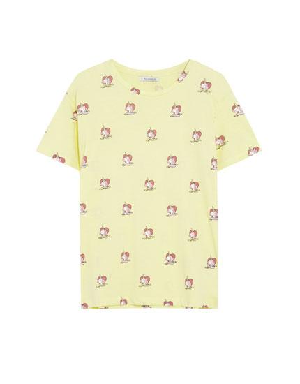 Shirt mit kurzen Ärmeln und Einhörnerprint