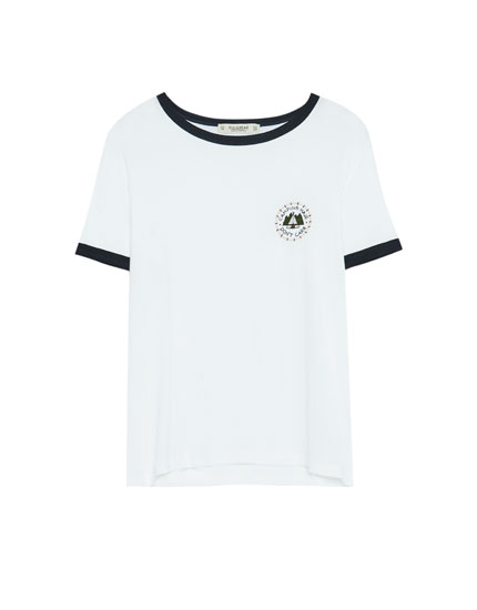 Short sleeve T-shirt with patch