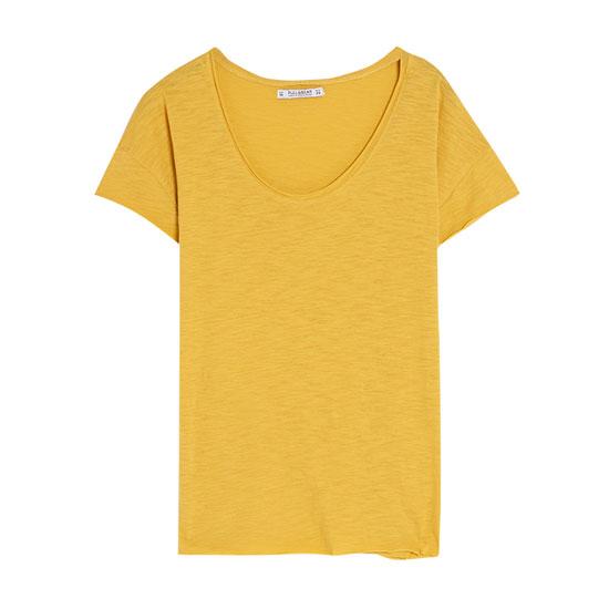 Vienkāršs T-krekls ar apaļu kakla izgriezumu