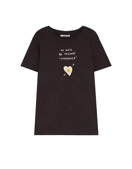 T-shirt imprimé œuf