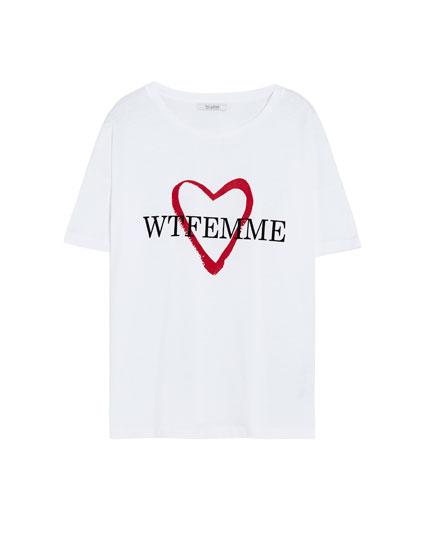 T-shirt Wtfemme