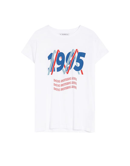 Short sleeve vintage slogan T-shirt