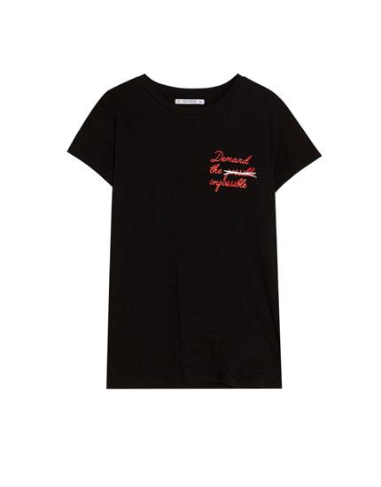 Short sleeve vintage slogan T-shirt