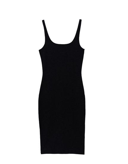 Midi dress with square neckline