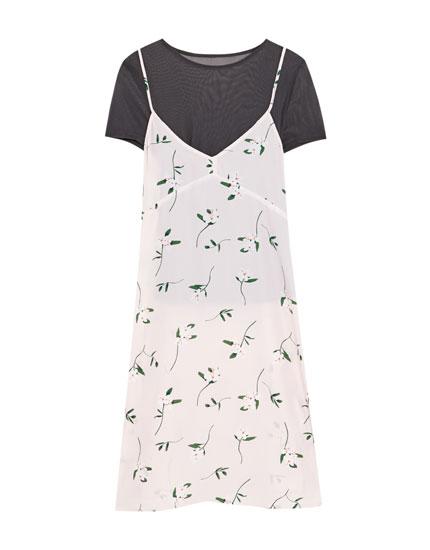 Kleid mit Trägern und Shirt