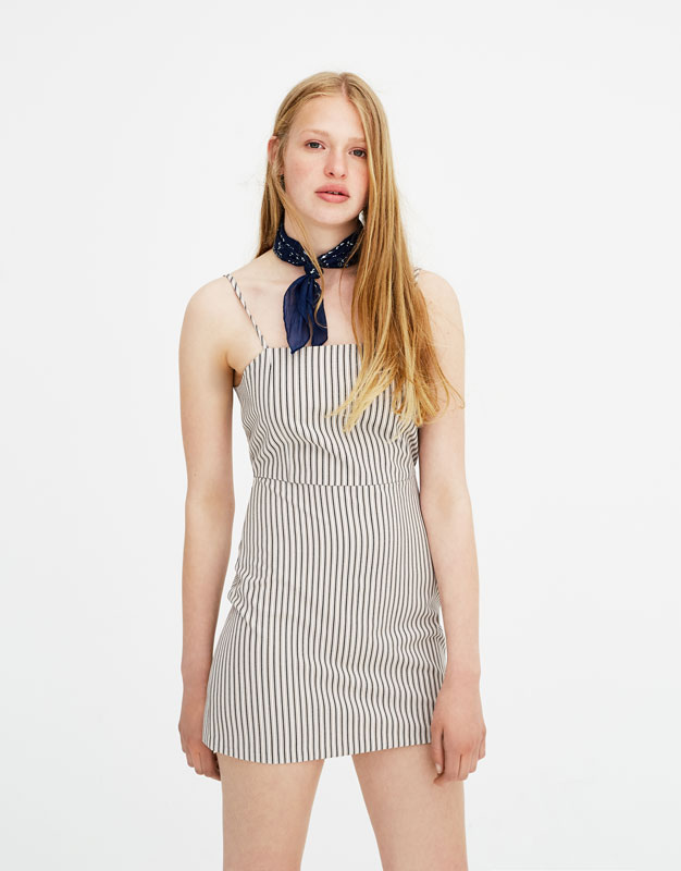 Fitted Dress With Square Cut Neckline by Pull & Bear