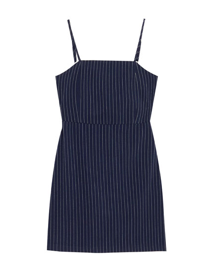 Fitted dress with square-cut neckline