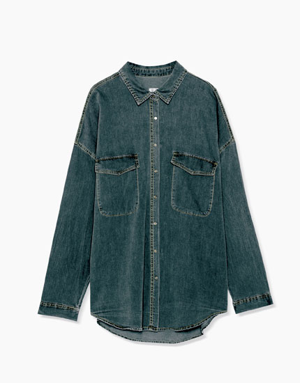 Camisa denim oversized