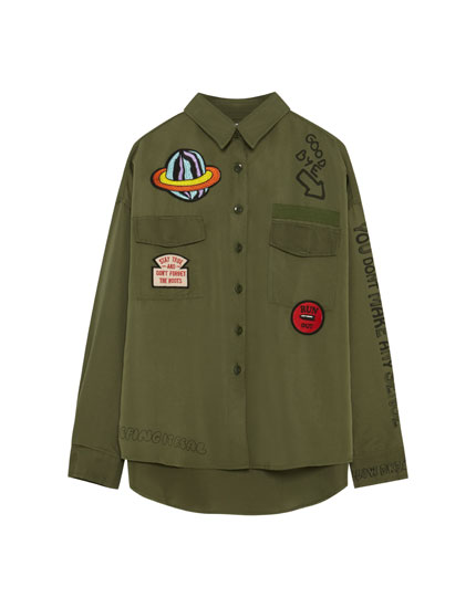 Shirt with patches