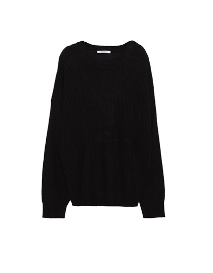 Sweater med bar skulder