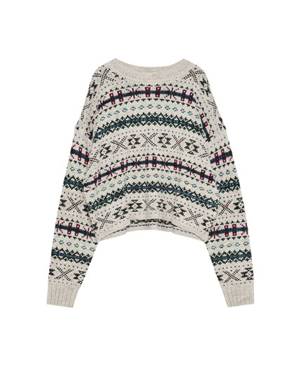 Jacquard-sweater allover