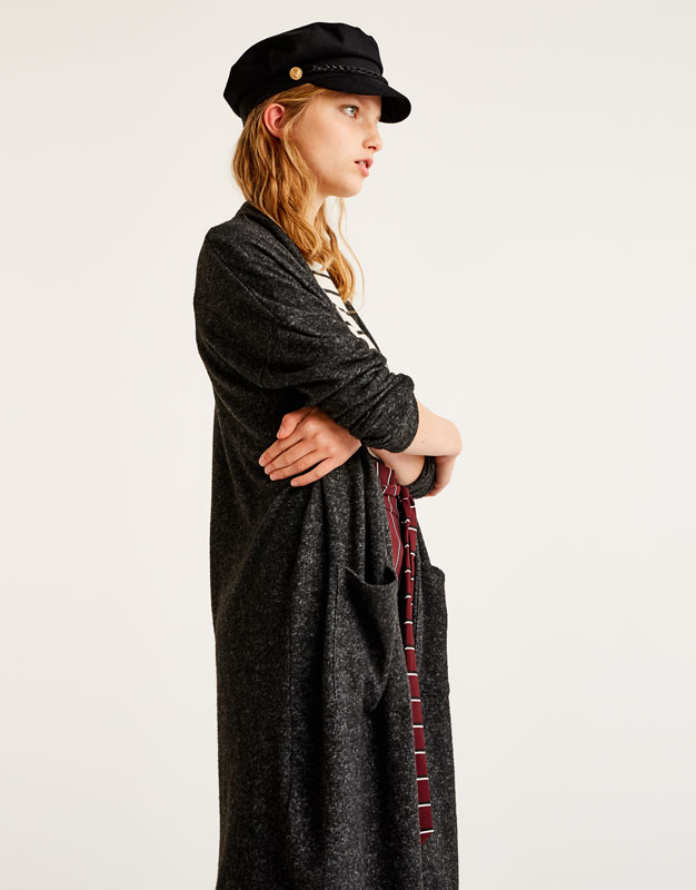 Long soft cardigan