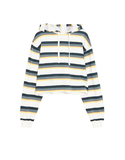 Multicoloured striped sweatshirt