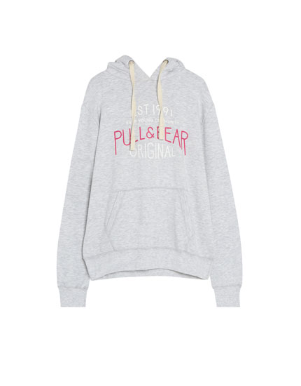 Sweat capuche logo