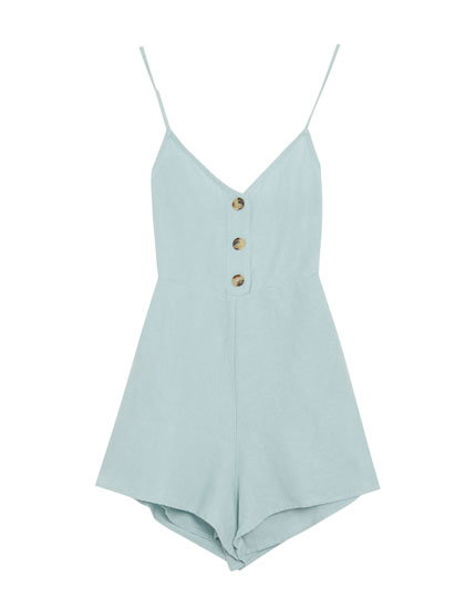 Jumpsuit with straps and front buttons